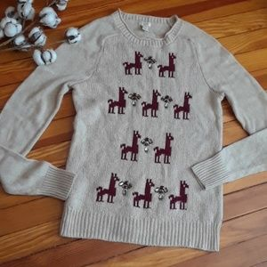 J.Crew Llama crew neck sweater.